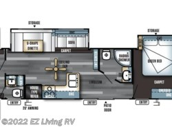 New 2017  Forest River Salem Villa 402QBQ by Forest River from EZ Living RV in Braidwood, IL