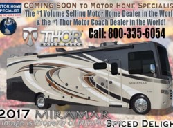 New 2017  Thor Motor Coach Miramar 34.1 Bath & 1/2, Theater Seats, Ext. TV, Fireplace by Thor Motor Coach from Motor Home Specialist in Alvarado, TX
