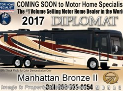 New 2017  Monaco RV Diplomat 43Q Bath & 1/2, Bunk House Luxury Diesel Coach by Monaco RV from Motor Home Specialist in Alvarado, TX