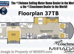 New 2017  Coachmen Mirada Select 37TB 2 Bath RV W/King Bed, Bunk House for Sale by Coachmen from Motor Home Specialist in Alvarado, TX