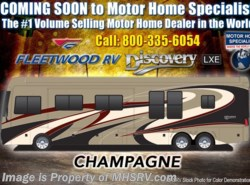 New 2018 Fleetwood Discovery LXE 44H Bath & 1/2, 450HP, Tag, Aqua Hot, U-Dinette available in Alvarado, Texas
