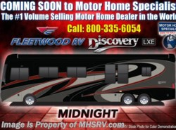 New 2018 Fleetwood Discovery LXE 44H Bath & 1/2, Tag, Aqua Hot, U Dinette, Sofa available in Alvarado, Texas