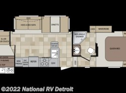 Used 2012  Keystone Cougar XLite 29RBS by Keystone from National RV Detroit in Belleville, MI