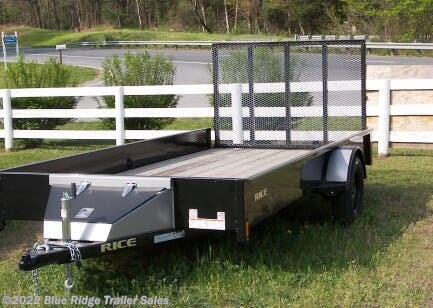 2020 Rice Trailers Stealth 6x14 Stealth with 5' Gate