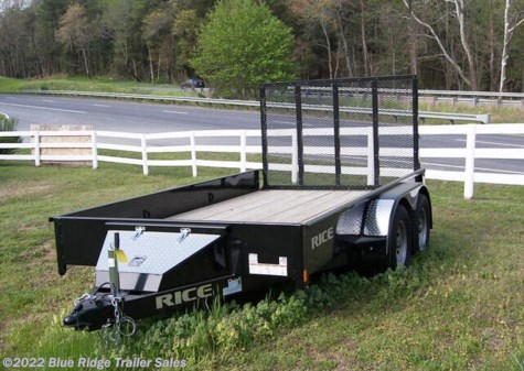 2020 Rice Trailers 7x16 TA Stealth w/4' Ramp