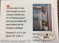 Used 2016  Miscellaneous  Red Hill Red Hill Amish Made Drying Rack  by Miscellaneous from Shady Maple RV in East Earl, PA
