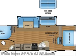 New 2017  Jayco Jay Flight 28BHBE 2-Bedroom U-Dinette/Sofa Slideout by Jayco from White Horse RV Center in Williamstown, NJ