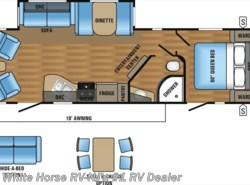 New 2017  Jayco Jay Flight 28RLS Rear Lounge Sofa/Dinette Slideout w/Is. Kitc by Jayco from White Horse RV Center in Williamstown, NJ