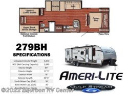 New 2017  Gulf Stream Ameri-Lite 279BH by Gulf Stream from Bourbon RV Center in Bourbon, MO