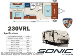 New 2017  Venture RV Sonic SN230VRL by Venture RV from Bourbon RV Center in Bourbon, MO