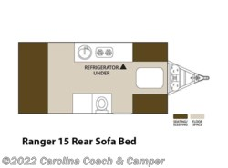 New 2017  Aliner Ranger 15 Rear Sofa Bed by Aliner from Carolina Coach & Marine in Claremont, NC