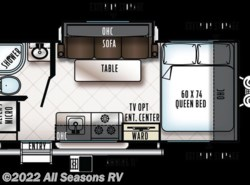 New 2018  Forest River Rockwood Geo Pro 19FBS by Forest River from All Seasons RV in Muskegon, MI