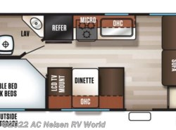 New 2019  Forest River Cherokee Grey Wolf 17BHSE by Forest River from AC Nelsen RV World in Omaha, NE