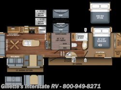 New 2018  Jayco Eagle 355MBQS by Jayco from Gillette's Interstate RV, Inc. in East Lansing, MI