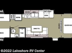Used 2011  Forest River Grey Wolf 29BHKS by Forest River from Lakeshore RV Center in Muskegon, MI