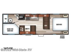 New 2019  Forest River Cherokee Grey Wolf 26DJSE by Forest River from Mid-State RV in Byron, GA
