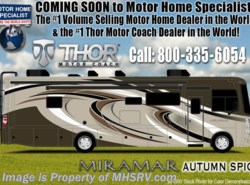 New 2018  Thor Motor Coach Miramar 34.2 RV for Sale at MHSRV.com FWS, King, Fireplace by Thor Motor Coach from Motor Home Specialist in Alvarado, TX