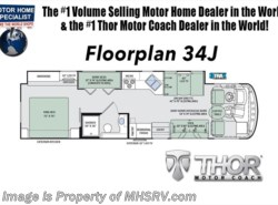 New 2018  Thor Motor Coach Hurricane 34J Bunk Model RV for Sale at MHSRV.com King Bed by Thor Motor Coach from Motor Home Specialist in Alvarado, TX