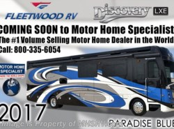 New 2017  Fleetwood Discovery LXE 40D Bath & 1/2 RV W/Sat, 3 A/C, Dishwasher, 380HP by Fleetwood from Motor Home Specialist in Alvarado, TX