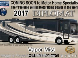 New 2017  Monaco RV Diplomat 43Q Bath & 1/2 Luxury Diesel RV W/Dishwasher by Monaco RV from Motor Home Specialist in Alvarado, TX