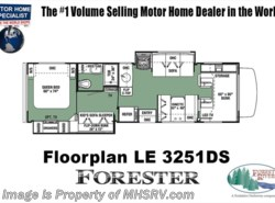 New 2018  Forest River Forester LE 3251DS Bunk House Coach for Sale at MHSRV W/15K A/ by Forest River from Motor Home Specialist in Alvarado, TX
