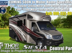 New 2018  Thor Motor Coach Four Winds Siesta Sprinter 24SR RV for Sale at MHSRV W/Summit Pkg, Dsl Gen by Thor Motor Coach from Motor Home Specialist in Alvarado, TX