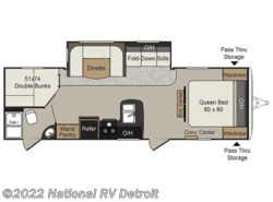 Used 2015  Keystone Passport 2810BH by Keystone from National RV Detroit in Belleville, MI