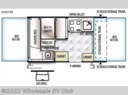 New 2018  Forest River Flagstaff SE 206STSE by Forest River from Wholesale RV Club in Ohio