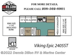 New 2018  Viking Epic 2405St by Viking from Dennis Dillon RV & Marine Center in Boise, ID