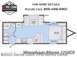 New 2018  Winnebago Minnie 2250Ds by Winnebago from Dennis Dillon RV & Marine Center in Boise, ID