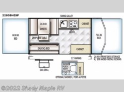 New 2017  Forest River Rockwood Extreme Sports 2280BHESP by Forest River from Shady Maple RV in East Earl, PA