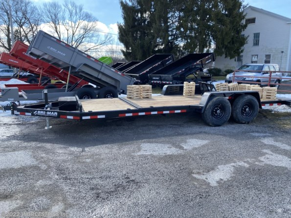 "2021 Bri-Mar Low Profile Hydraulic Tilt Equipment Trailer 82""W available in N. Ridgeville, OH"