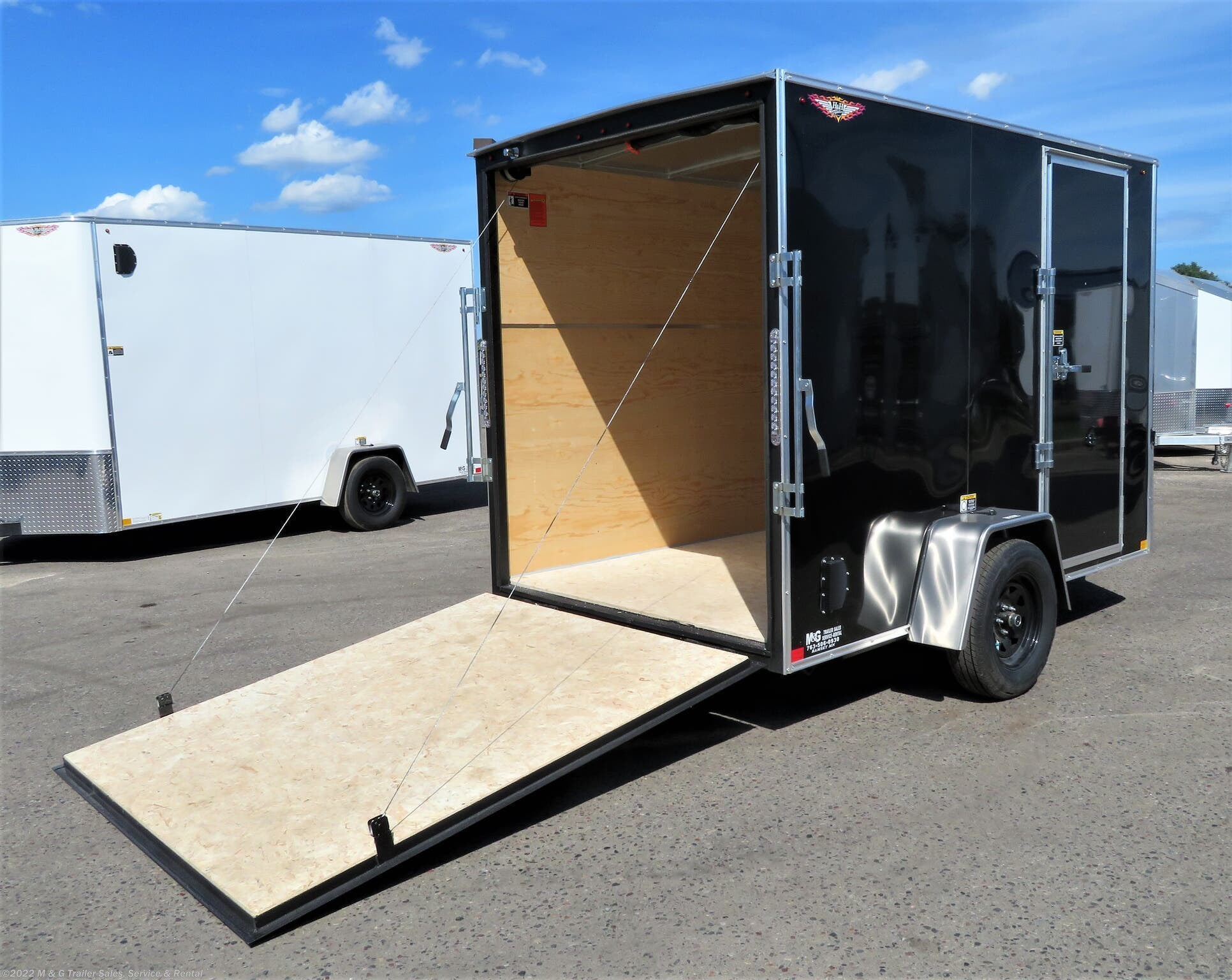 "2020 H&H 6x10 Enclosed 6'6"" Int Cargo - Black - Stock #530961"