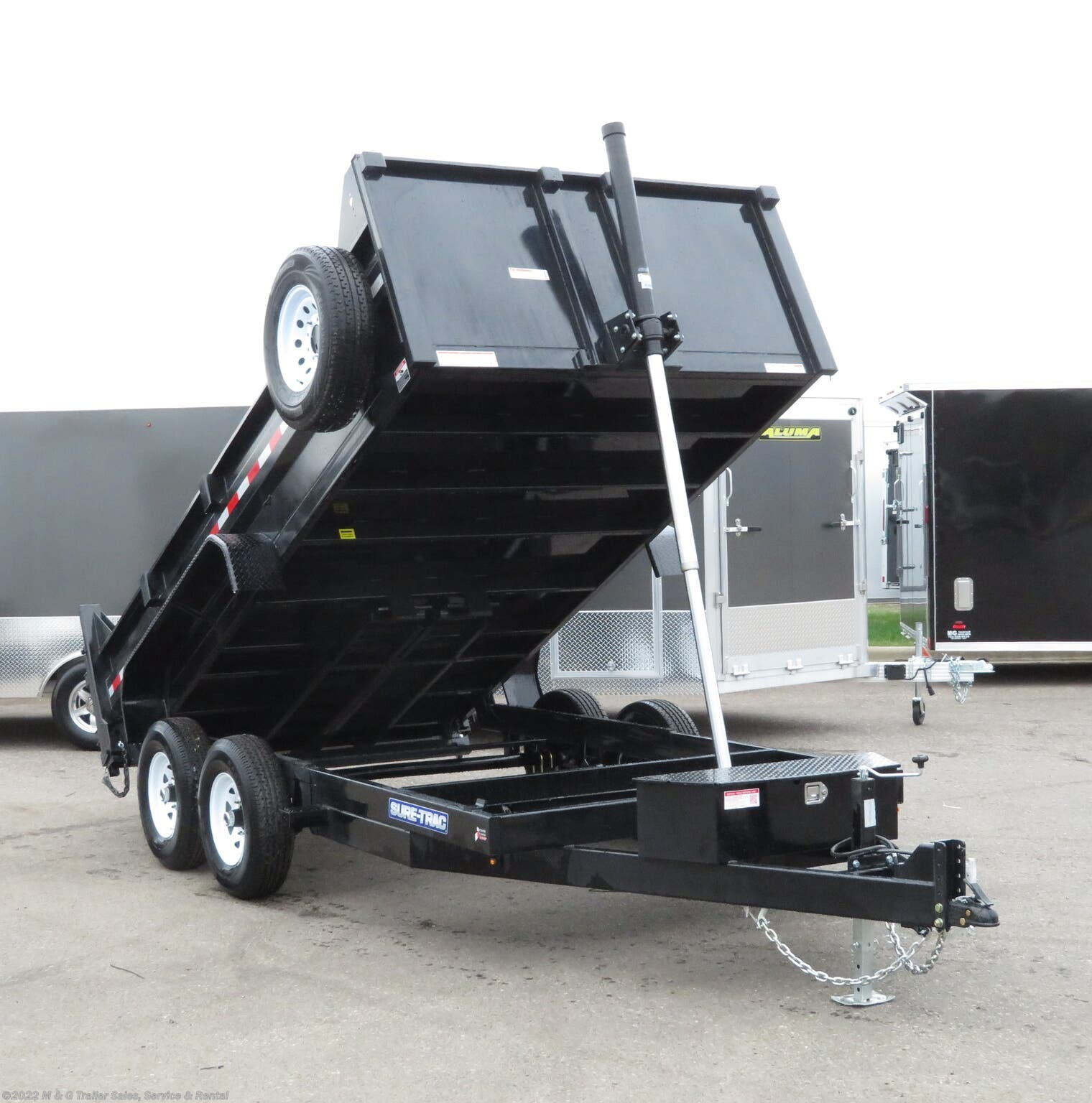 2021 Sure-Trac 14' Dump 14k Trailer - Black - Stock #300264