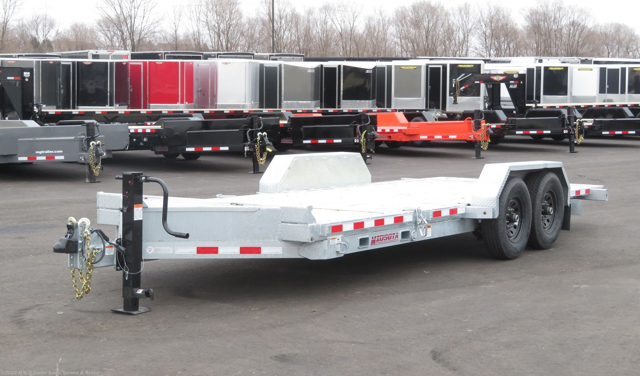 2020 Midsota TB-20 Tilt Bed 15k Equipment Trailer - Galvanized - Stock #003453