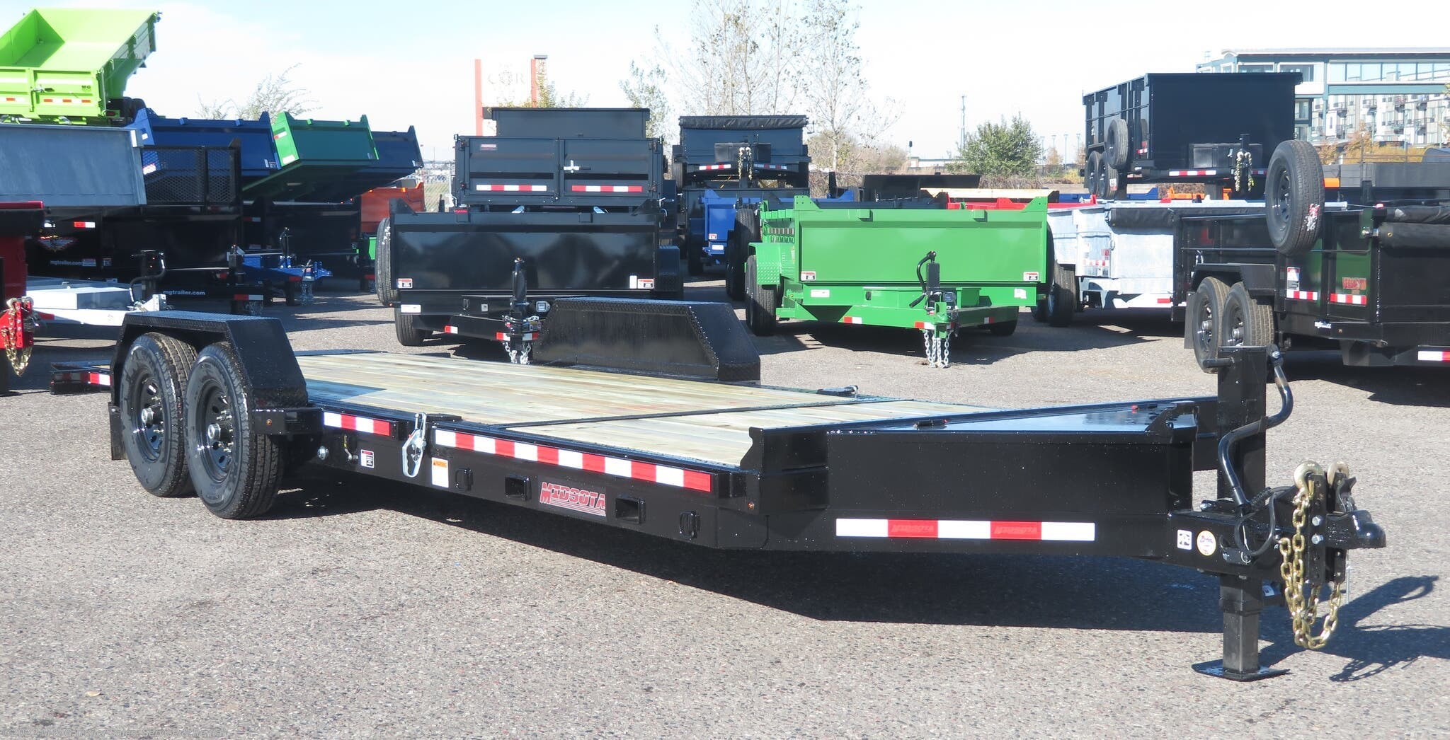 2021 Midsota TB-22 Tilt Bed Equipment Trailer - Black - Stock #000017