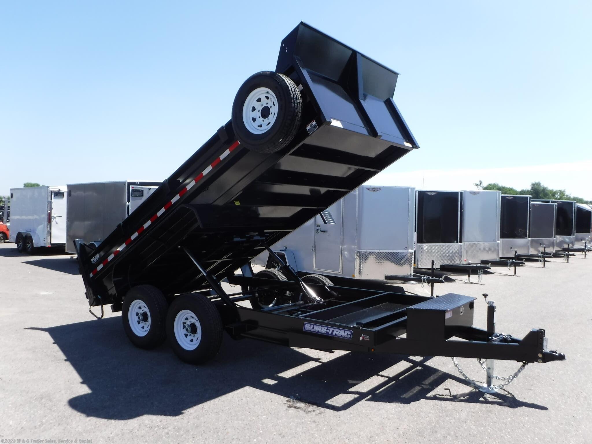 2021 Sure-Trac 14' Dump 14k Trailer - Black - Stock #313064