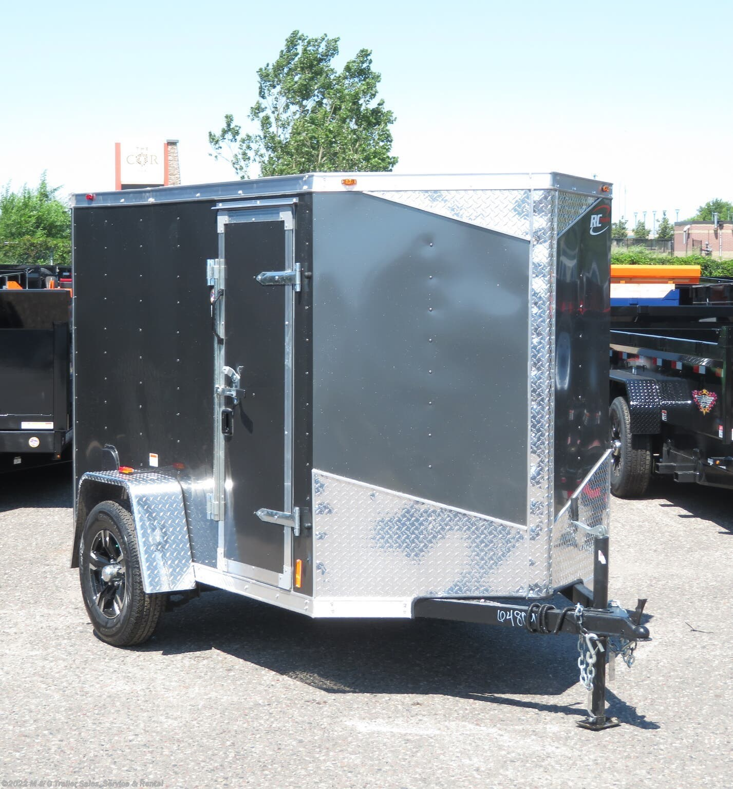 2021 RC Trailers 5x8SA Enclosed Cargo - Charcoal - Stock #660130