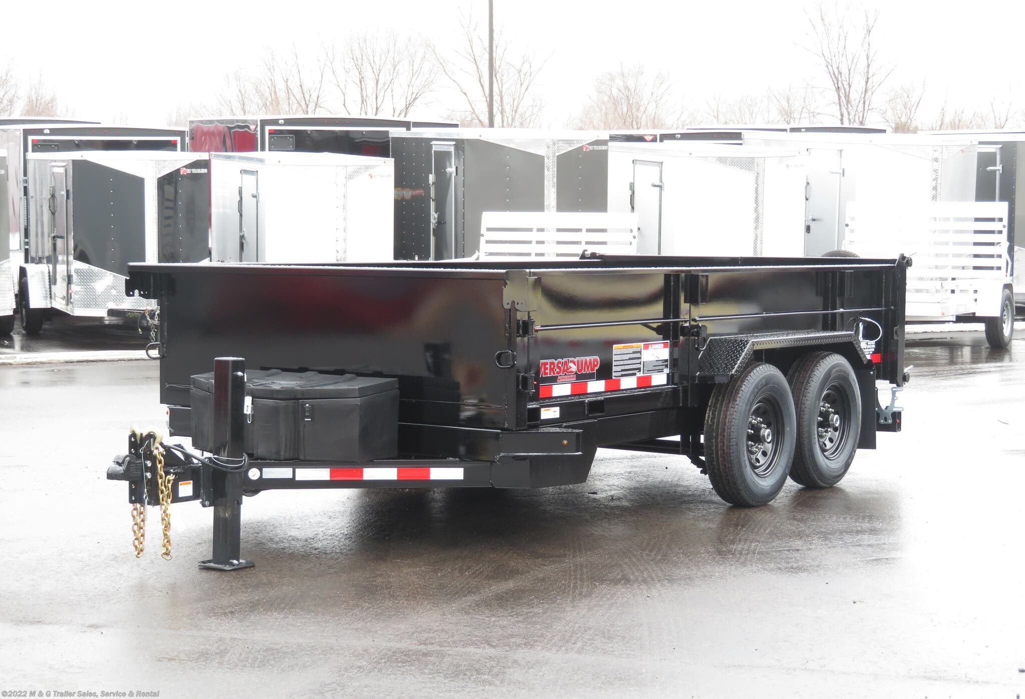 2021 Midsota 14' Dump Trailer - Black - Stock #000975