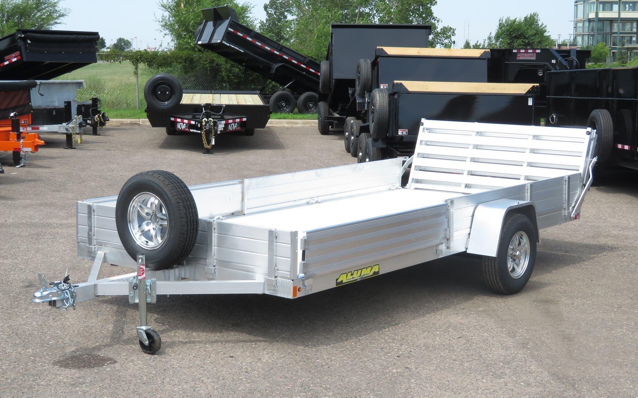 2021 Aluma 8114 SR Aluminum ATV/Utility Trailer - Stock #227080