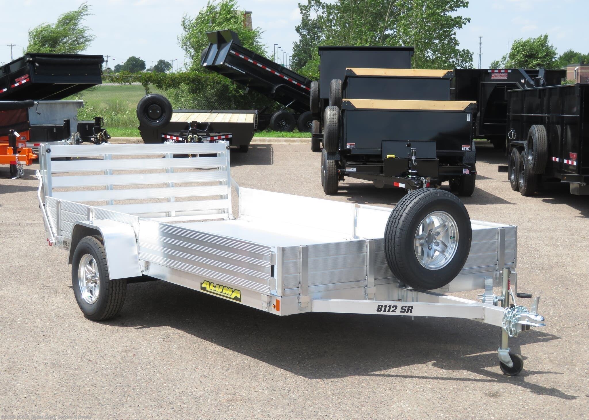 2021 Aluma 8112 SR Aluminum ATV/Utility Trailer - Stock #227170