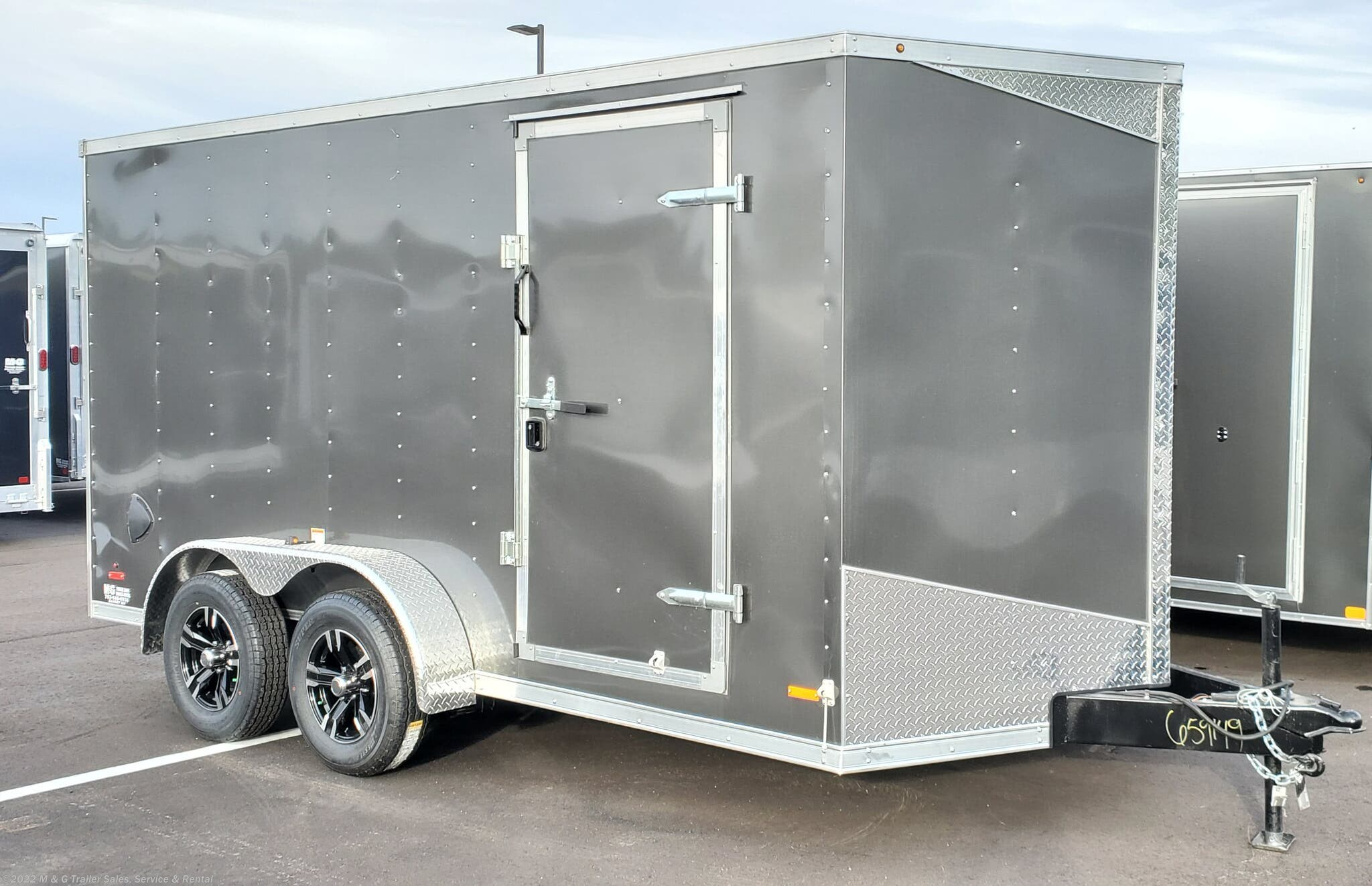 "2021 RC Trailers 7x14TA Enclosed 6'6"" Int Cargo - Charcoal - Stock #659149"