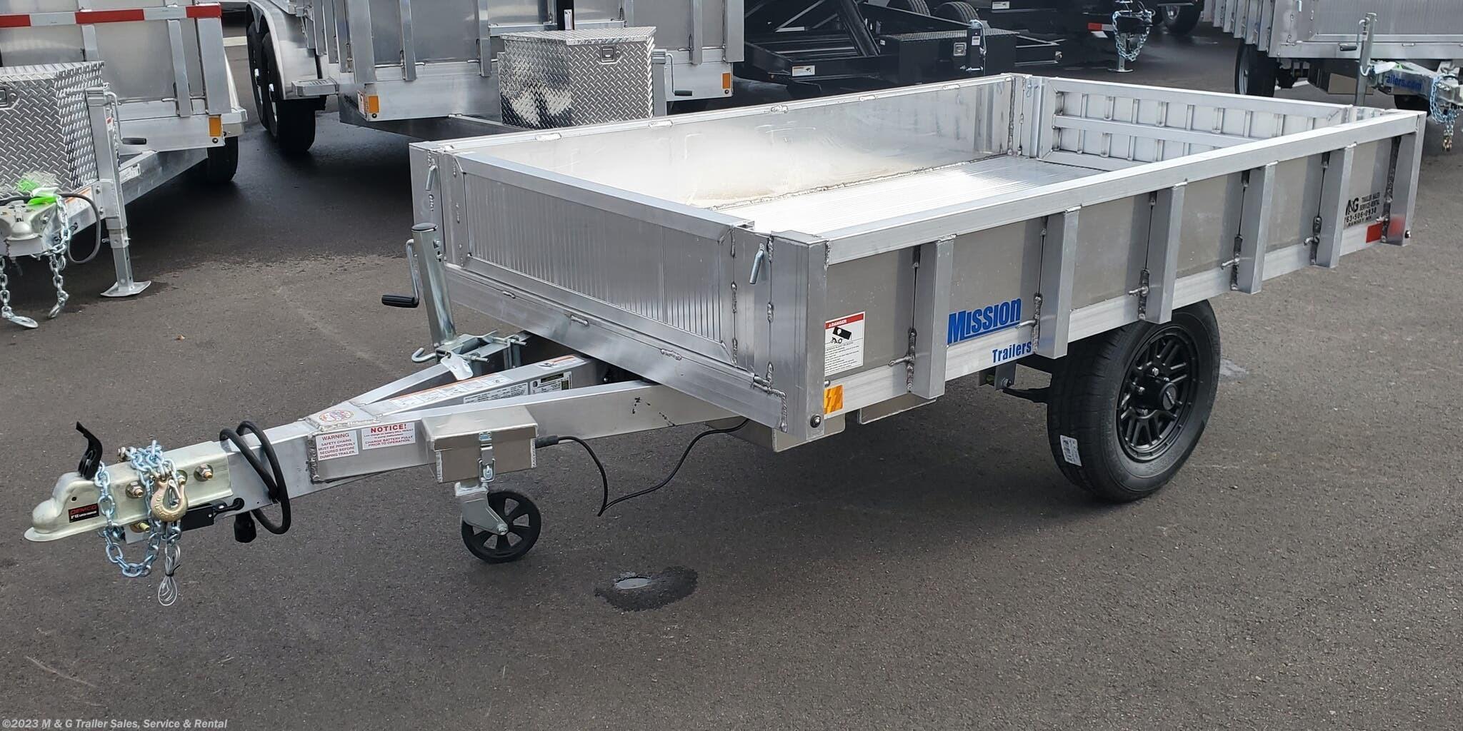 2021 Mission Trailers 4.5x8 Aluminum 2990 GVWR Dump Trailer - Stock #015349