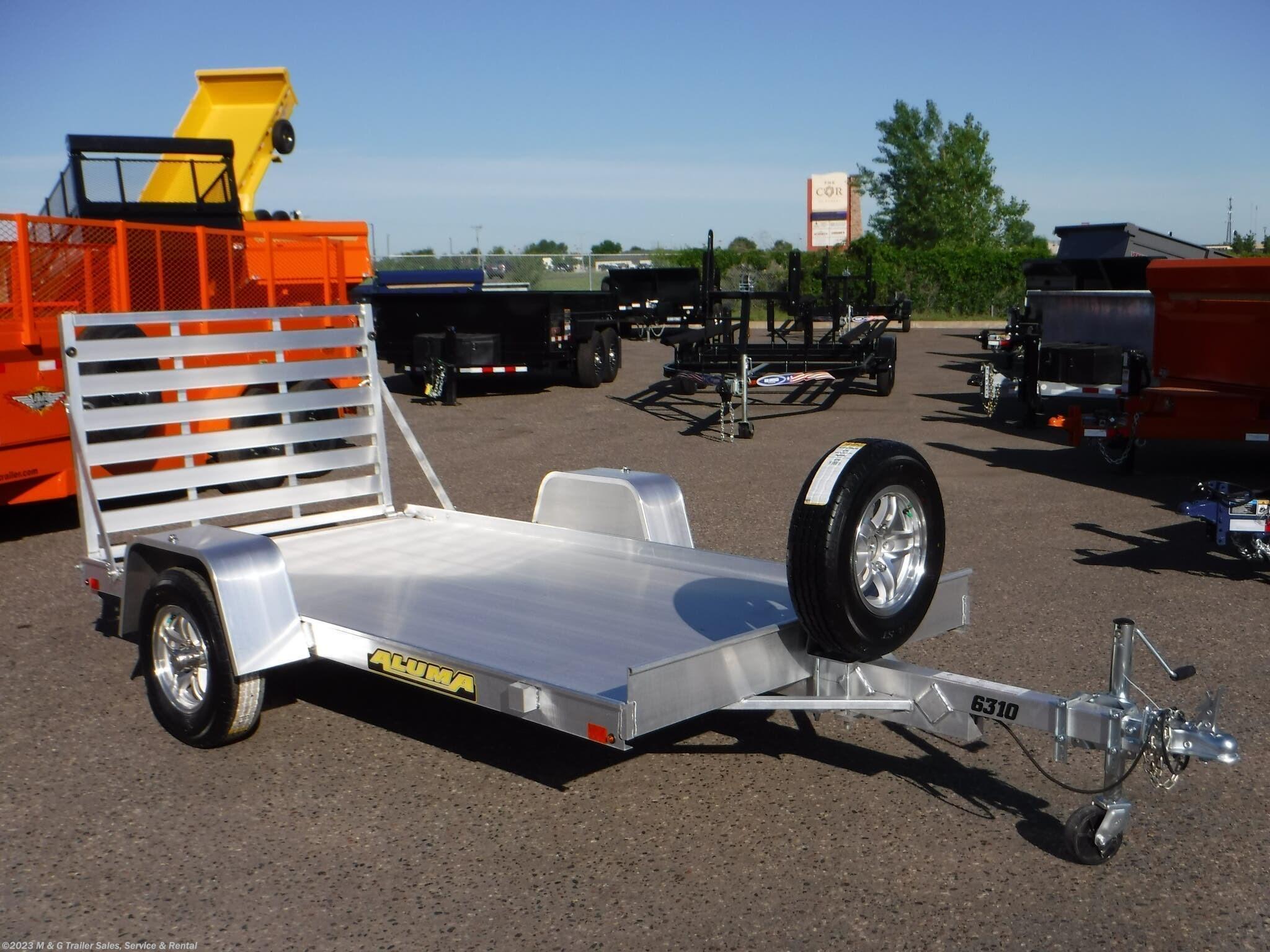 2022 Aluma 6310 LW Aluminum Utility Trailer - Stock #230091