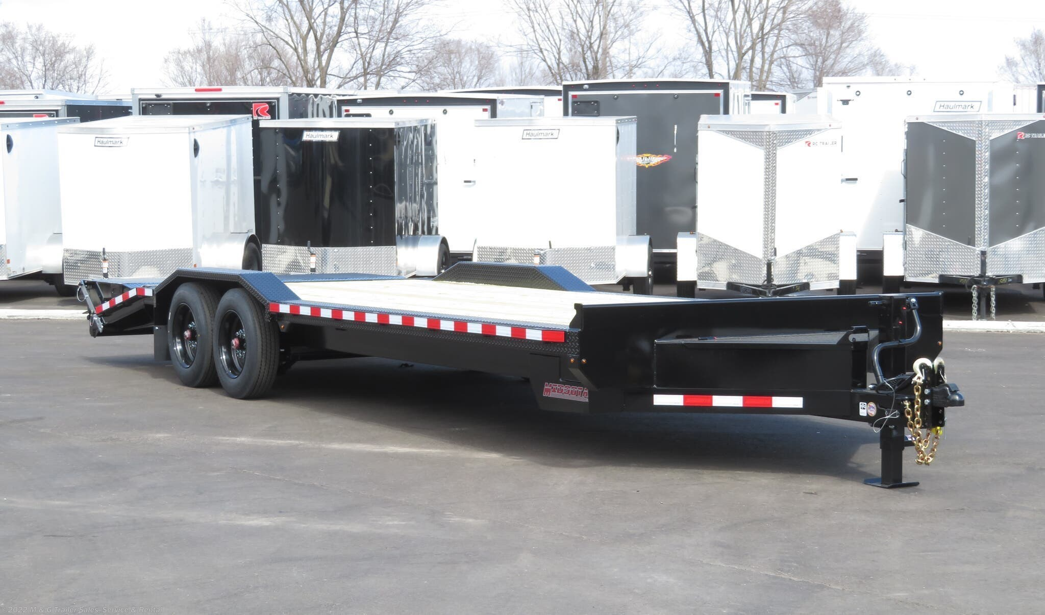 2021 Midsota STWB-24 Wide Body Skid Loader Trailer - Black - Stock #001671