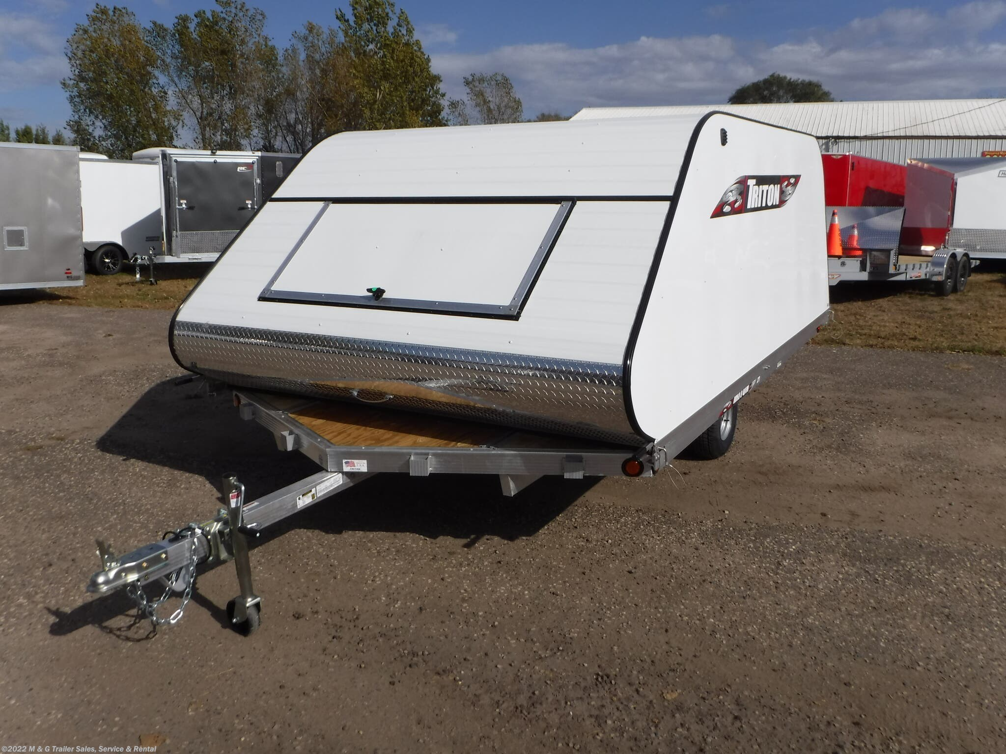 2021 Triton Trailers 12VR Coverall - White - Stock #v18339