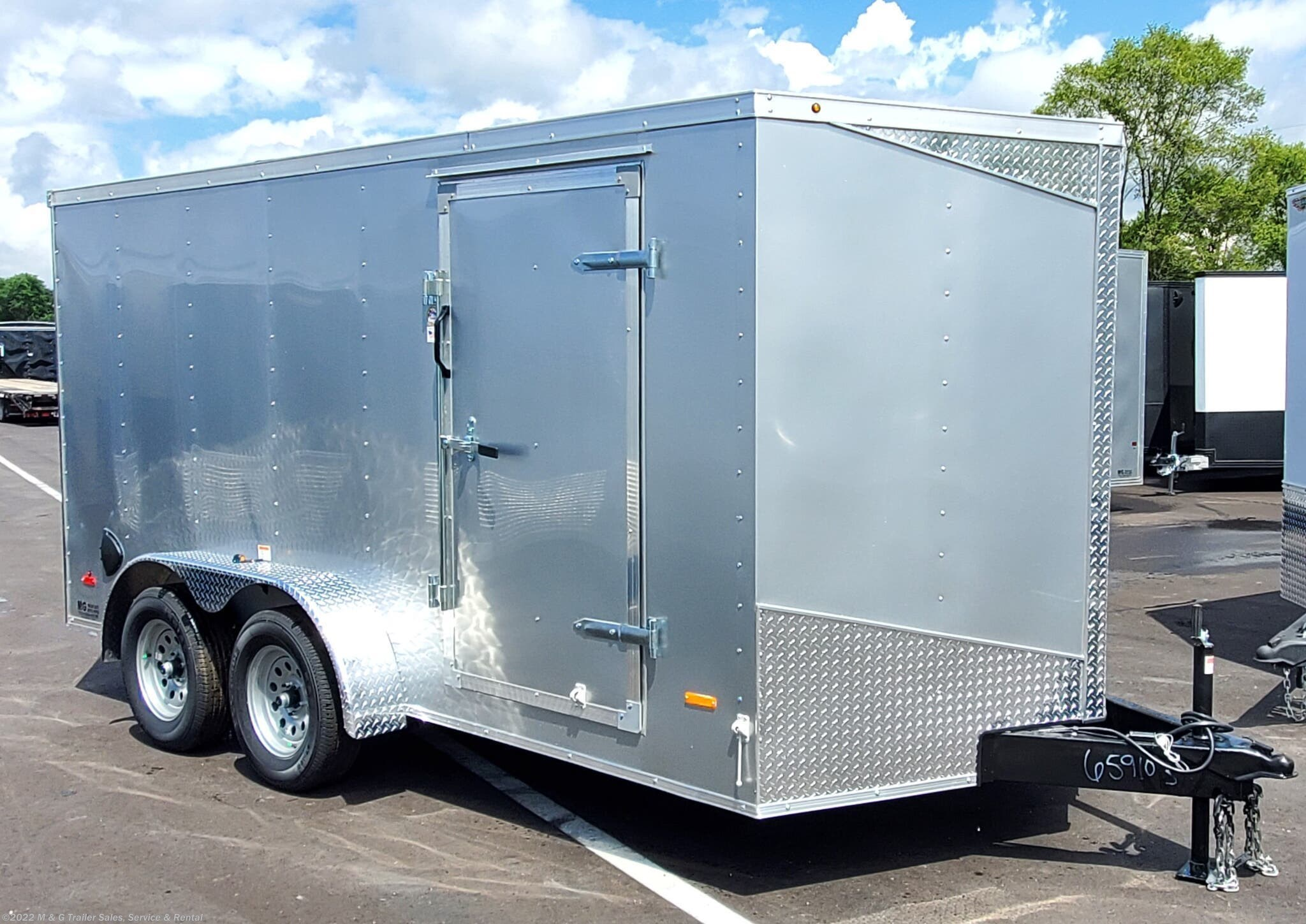 2021 RC Trailers 7x14TA Enclosed 7' Int Cargo - Silver - Stock #659639