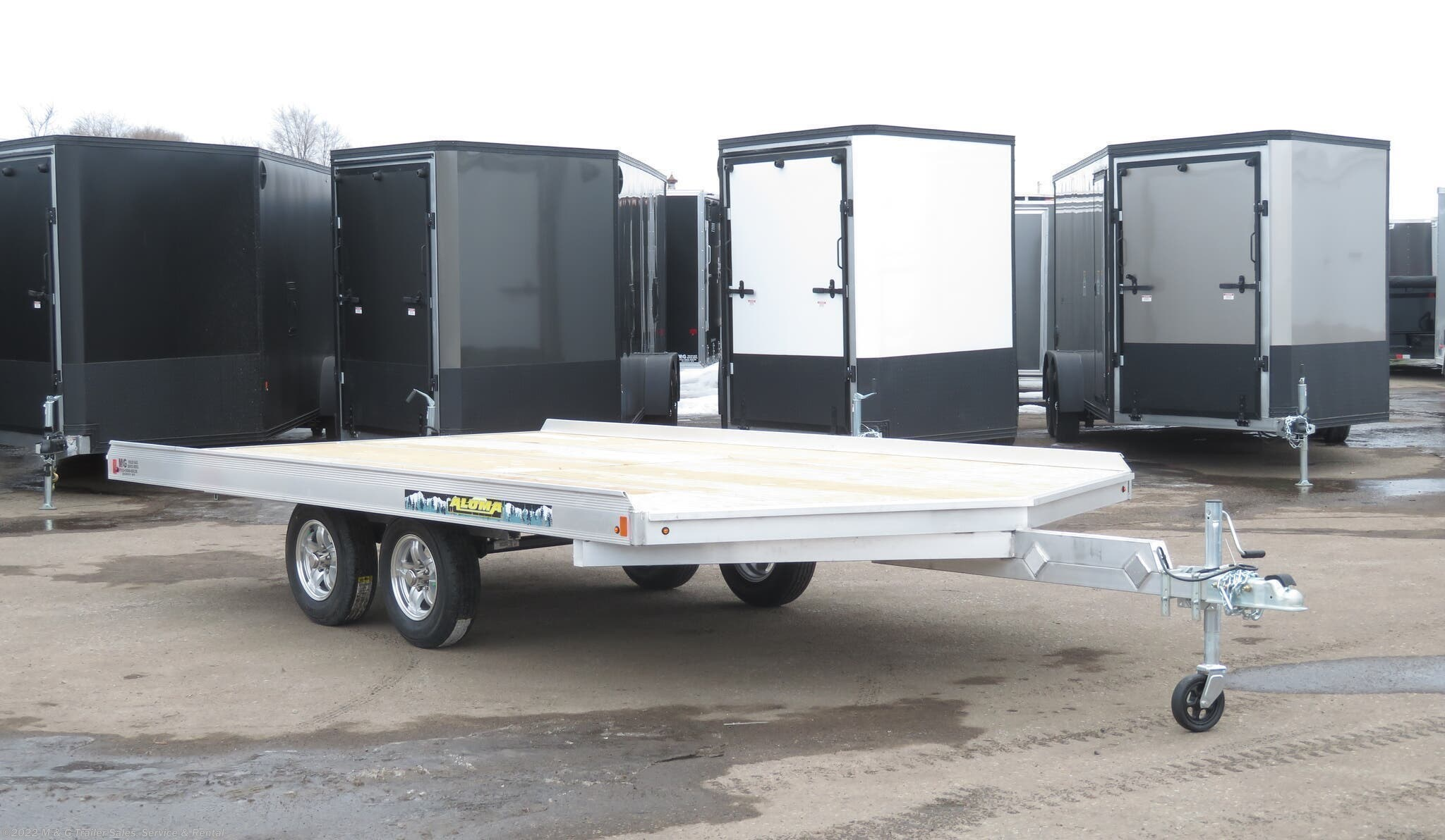 2021 Aluma 8614/13 Aluminum Snowmobile Trailer - Stock #229605