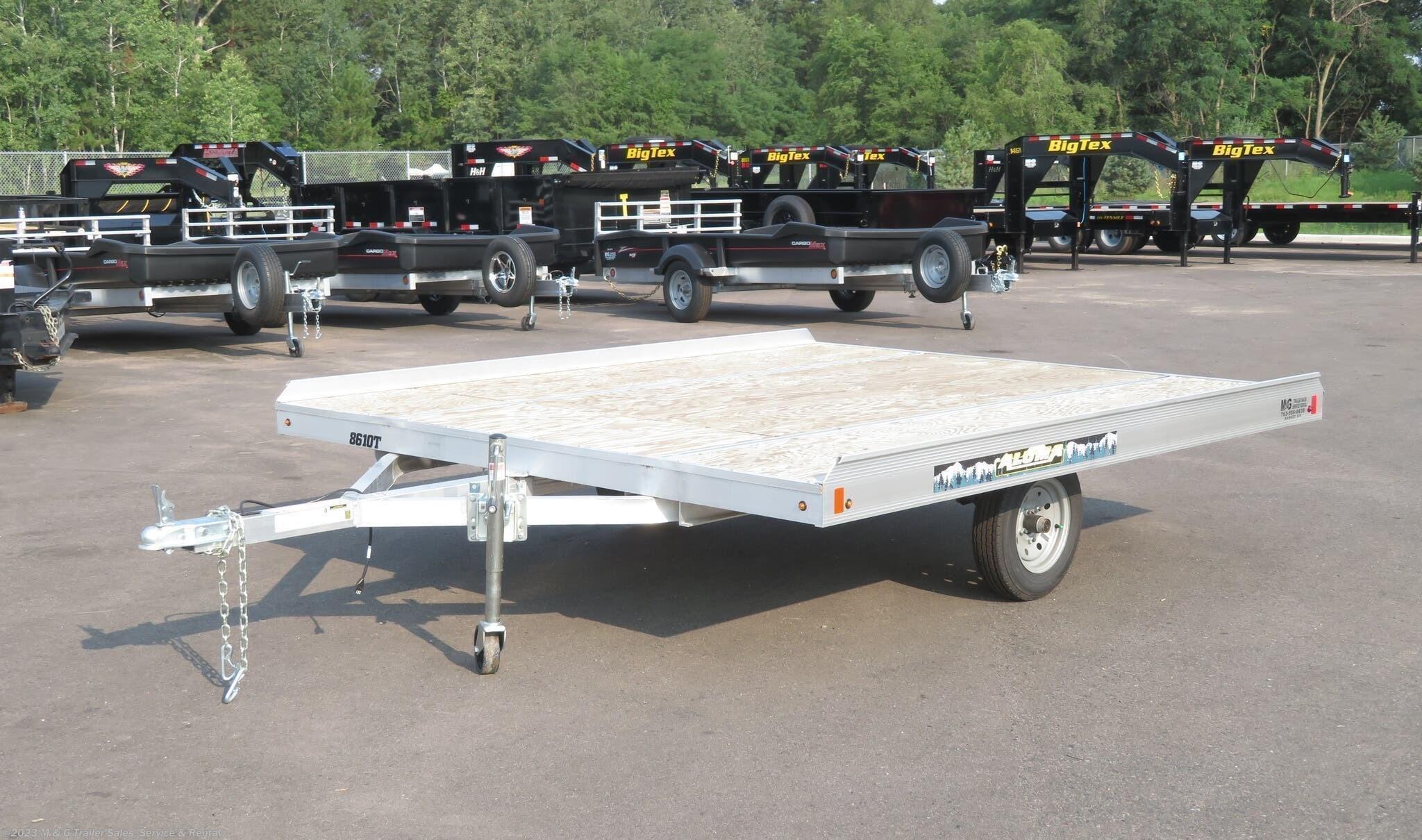 2020 Aluma 8610T Aluminum Tilt Bed Snowmobile Trailer - Stock #211410