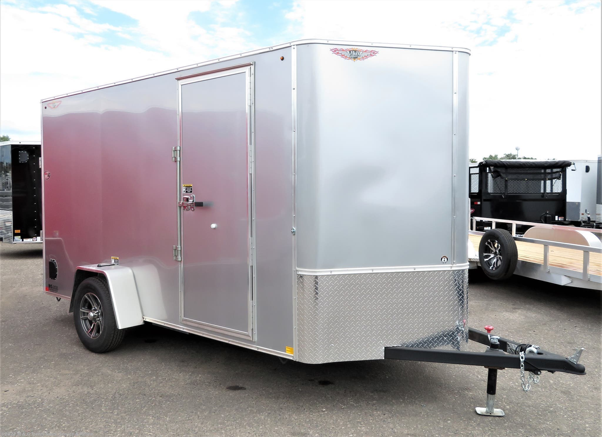 "2021 H&H 6x12 Enclosed 6'6"" Int Cargo - Silver - Stock #549510"